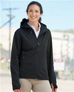 Women's Dri Duck Black Soft Shell Hooded Jacket