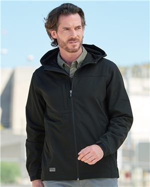 Men's Dri Duck Black Soft Shell Hooded Jacket